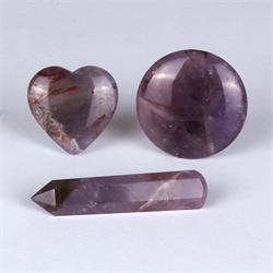 Auralite-23 Polished Gemstone Shapes