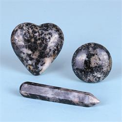 Black Tourmaline Azeztulite Shapes