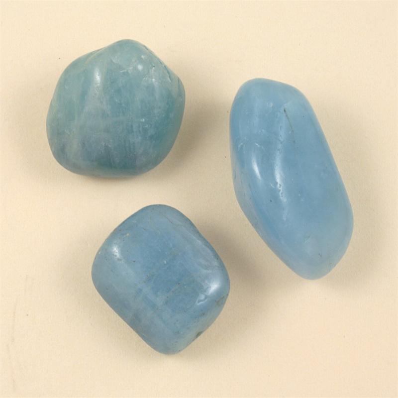 aquamarine tumbled polished gemstones