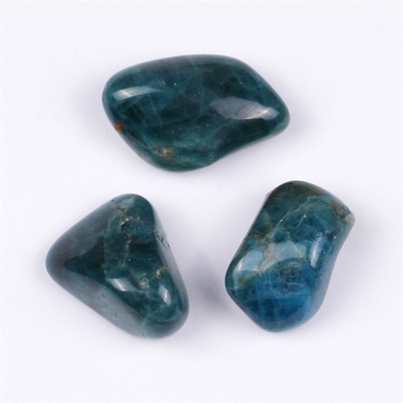 apatite blue tumbled polished gemstones