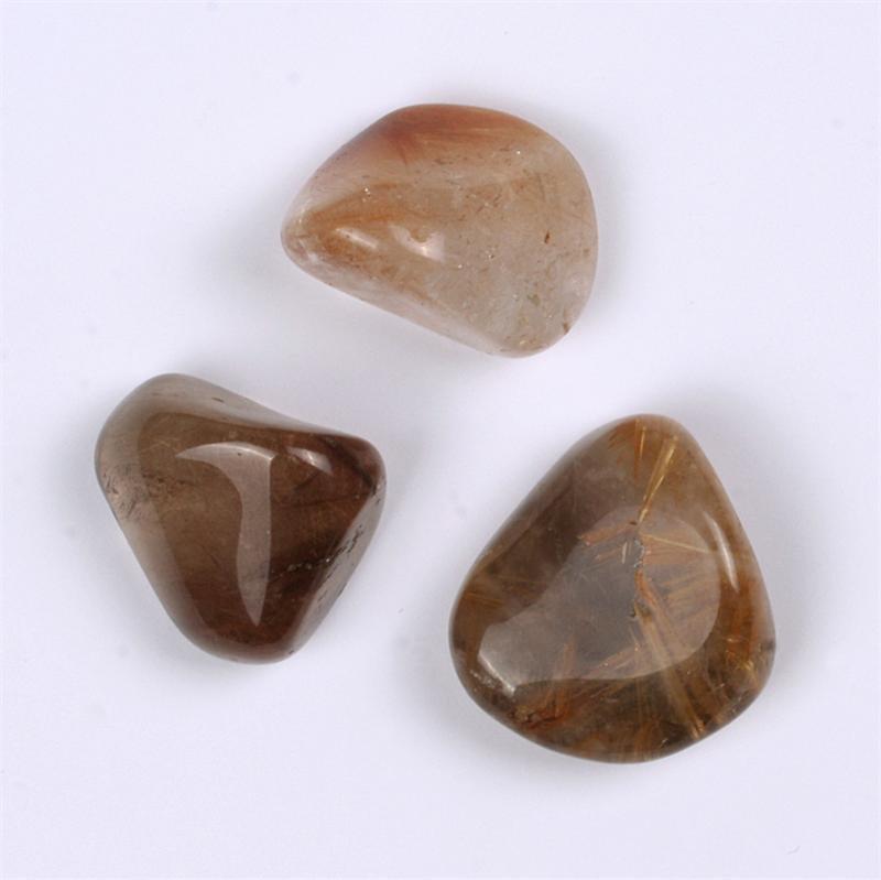 Rutilated Quartz Stones : Rutilated quartz a tumbled polished gemstones