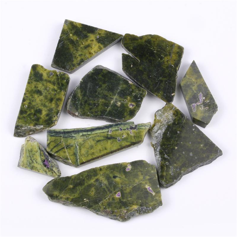 Serpentine Stone Slabs : Serpentine stichtite gemstone slabs gram lot