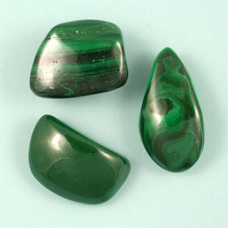 malachite tumbled polished gemstones