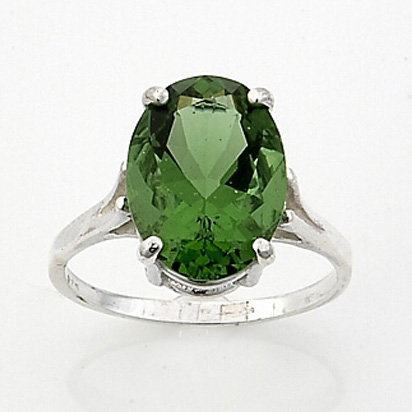 gaia stone faceted ring oval 14x10mm stone