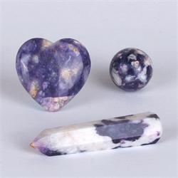 Violet Flame Opal Shapes