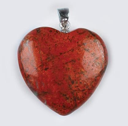 Crimson cuprite polished gemstone heart 25mm pendants mozeypictures Image collections