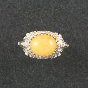 925 Sterling Silver 10mm x 8mm Certificate of Authenticity Included Satyaloka Yellow Azeztulite Ring Museum Quality Oval Shaped Cabochon