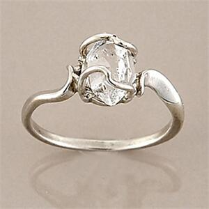 Herkimer quartz diamond ring 7mm natural crystal junglespirit Image collections